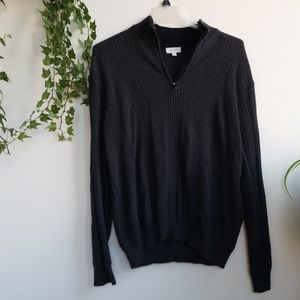 Mens XL sweater with 1/4 zip